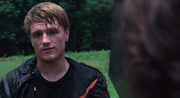Peeta telling Katniss to kill him