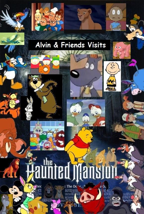 Alvin Amp Friends Visits The Haunted Mansion Chipmunks