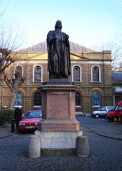 Shoreditch john wesley statue 1