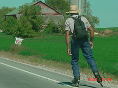 Random Amish Guy Rollerblading