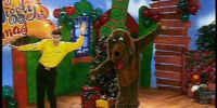 Wags is Bouncing Around the Christmas Tree
