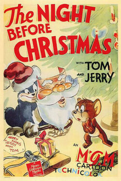 The Night Before Xmas Tom and Jerry Poster