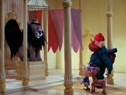 Rudolph and friends meet King Moonracer