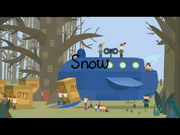 Snow title card