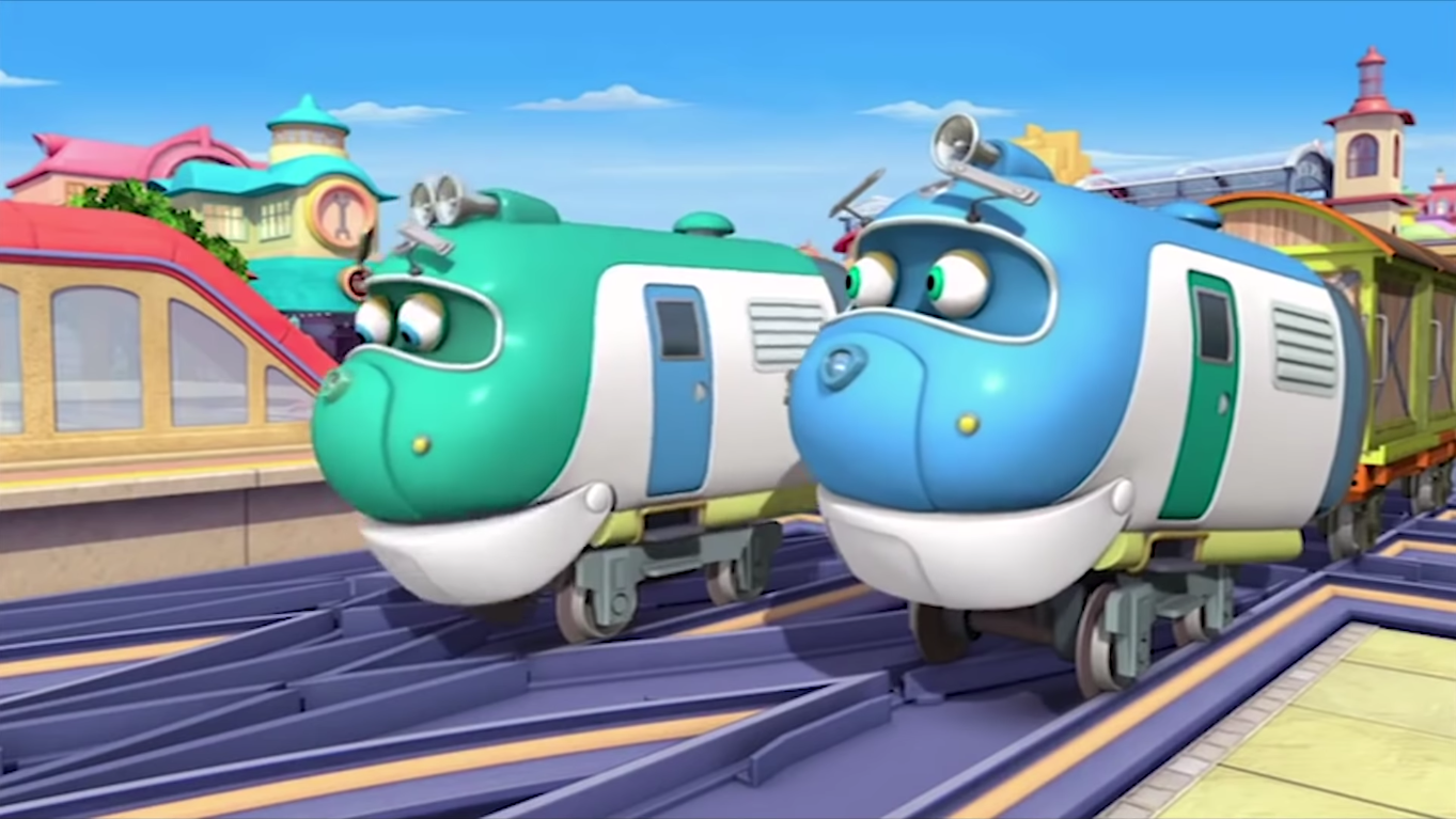 how to draw hoot and toot from chuggington