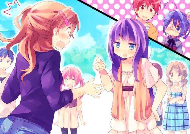 File:Class Trip - Kazari Kannagi (Class Idol) and Shinka Nibutani (Class King).jpg