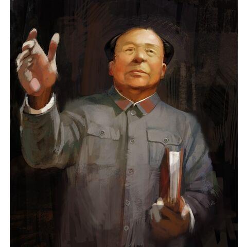 Concept art of Mao Zedong