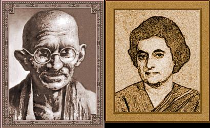 Mohandas Gandhi and Indira Gandhi (Civ2)
