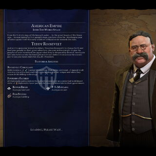 Teddy Roosevelt on the loading screen