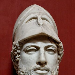 A marble bust of Pericles (which appears to be the basis for his in-game model)