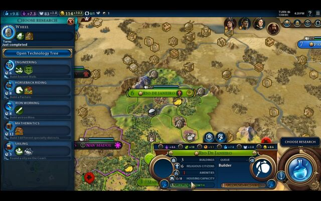 File:Civilization VI - Devs play as Brazil screenshot - Choose research.jpg
