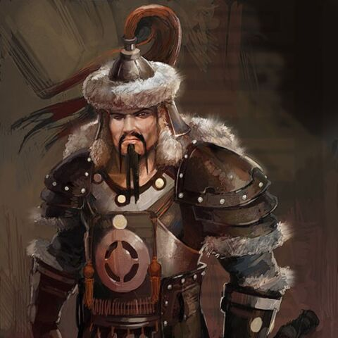 Concept art of Genghis Khan