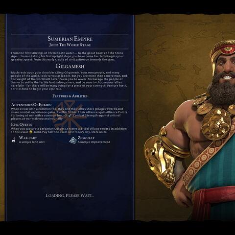 Gilgamesh on the loading screen