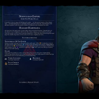 Harald Hardrada on the loading screen