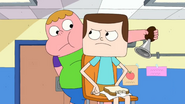 Jeff telling Clarence to stop