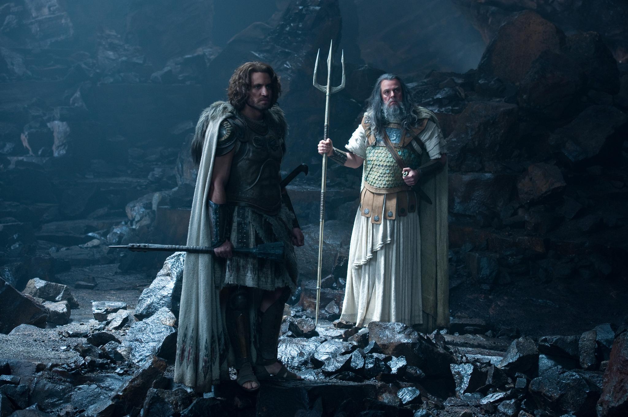 Poseidon and Ares in the  Poseidon Staff