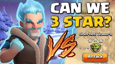 Ice Wizard Vs Sherbet Towers - Can We 3 Star? Clash of Clans New Troop Attacks