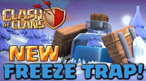 Clash of Clans NEW Freeze Trap - Full Army Challenge! Clashmas Gift 2