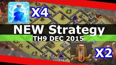 NEW Th9 Strategy December 2015 - 4 Lightning + 2 Earthquake Spells - Zap Quake - Clash Of Clans