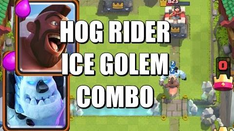 Hog Rider and Ice Golem Cycle Deck & Strategy