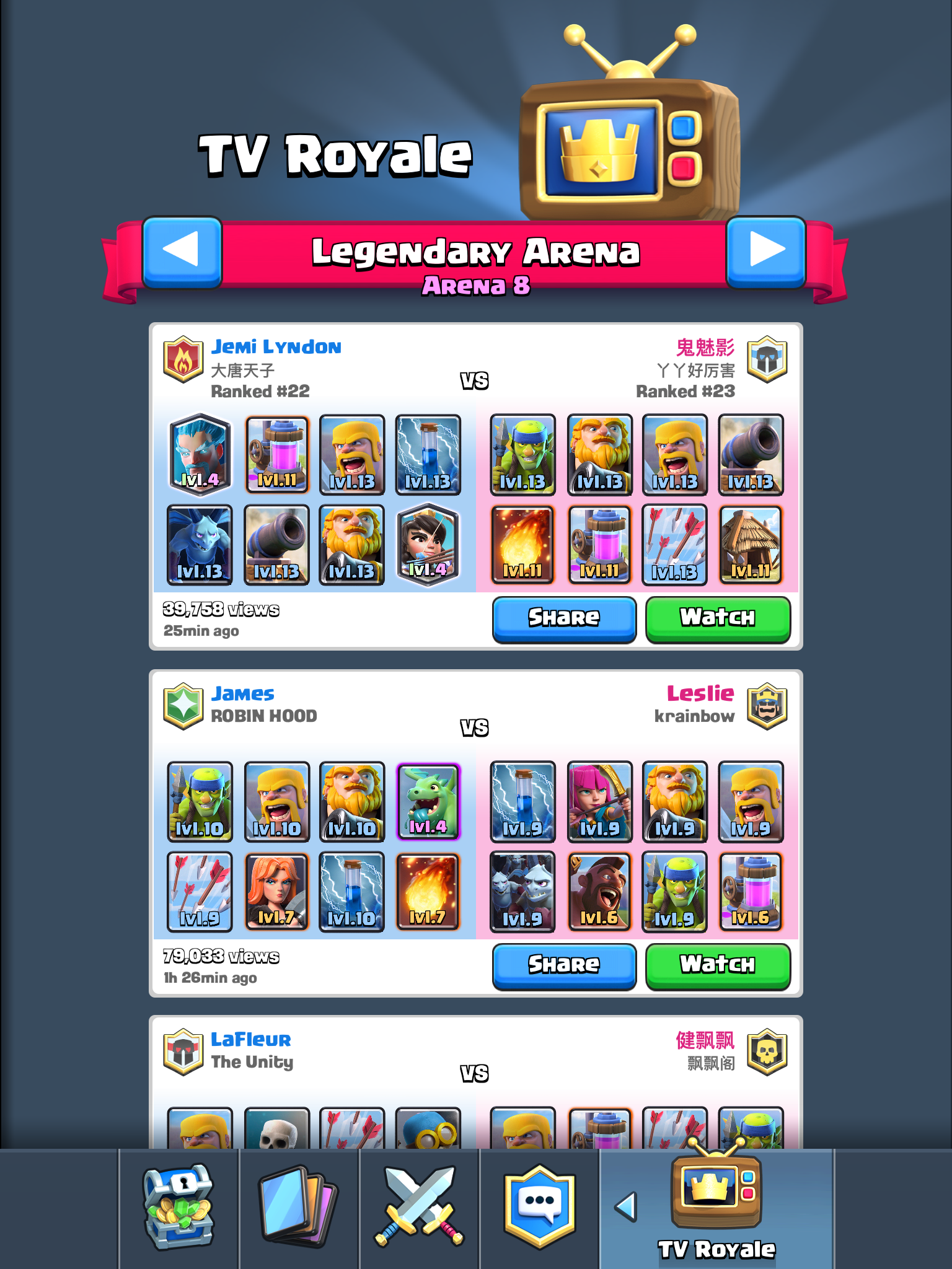Clash Royale Tournament No Battle