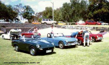 Austin Healey Sprites in 1965 Melbourne Australia