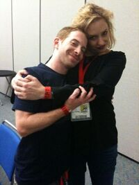 450px-The other Seth and me backstage before panel