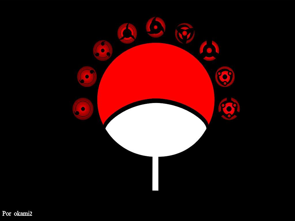 The Uchiha Clan symbol and the  Uchiha Clan Symbol Wallpaper