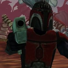 Malek's ancestor Malek Morak donned Mandalorian armor similar to that of the super commandos.