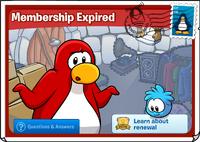 Membership expires postcard 3