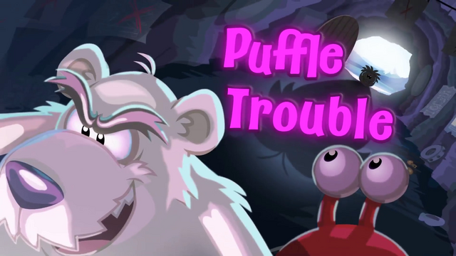 File:Puffle Trouble logo.png