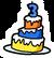 3rd Anniversary Cake Pin