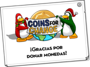 Coins For Change Card full award es