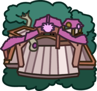Pink Puffle Tree House icon