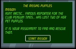 The Missing Puffles start screen