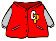 Red letterman Jacket Old Icon