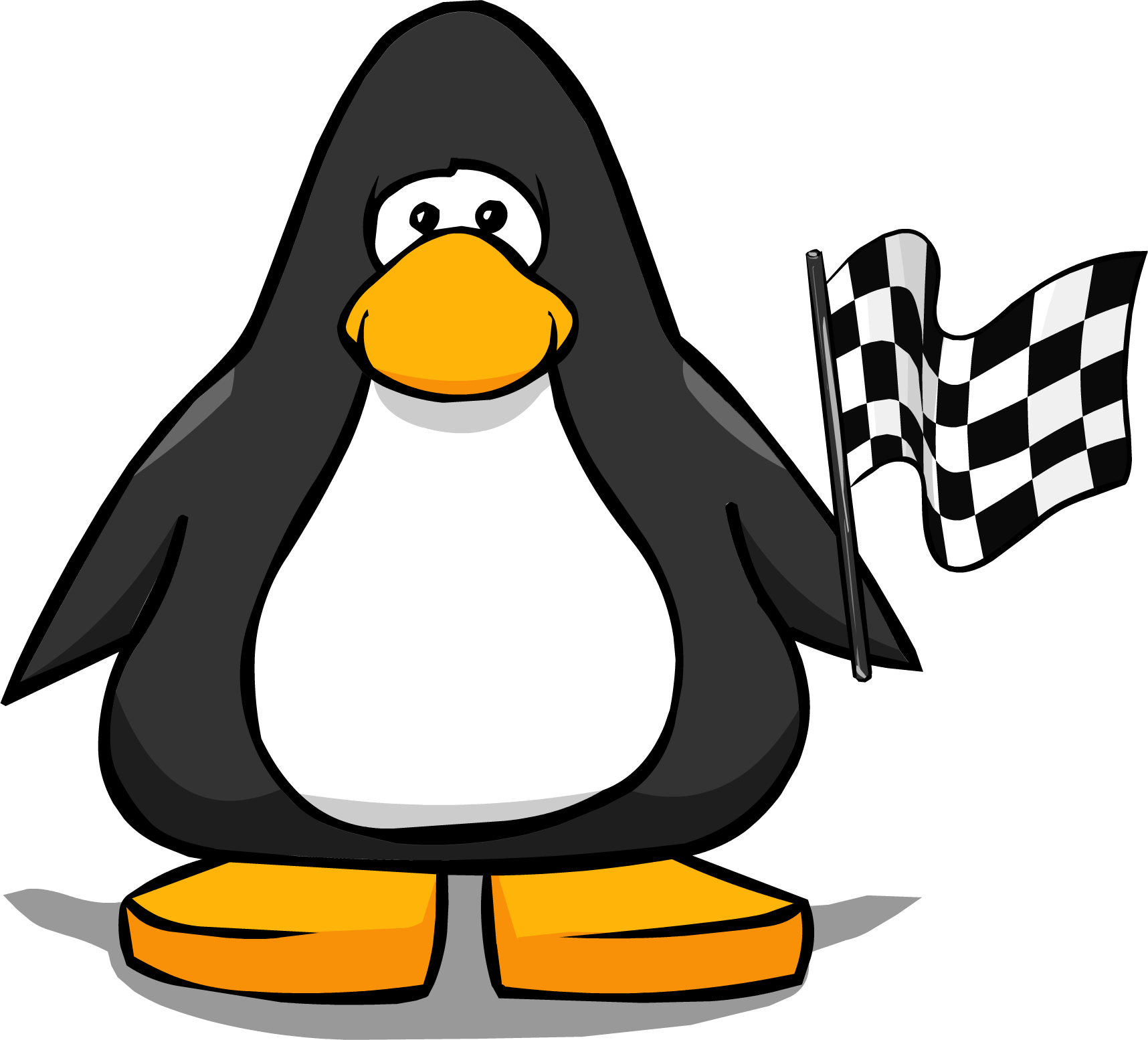 Checkered Flag from a Player Card