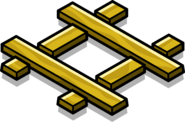 Gold Railroad Crossing sprite 001
