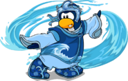 Water Ninja Pose With Water