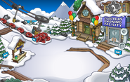 Puffle Party 2015 construction Ski Village