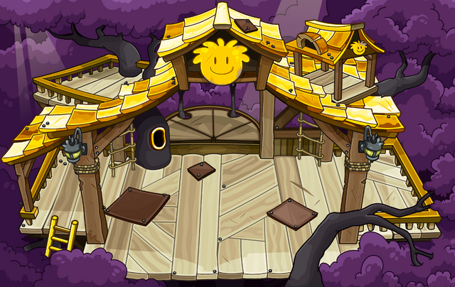 File:Gold Puffle Tree House sprite.png