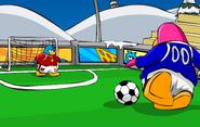 Soccer postcard icon