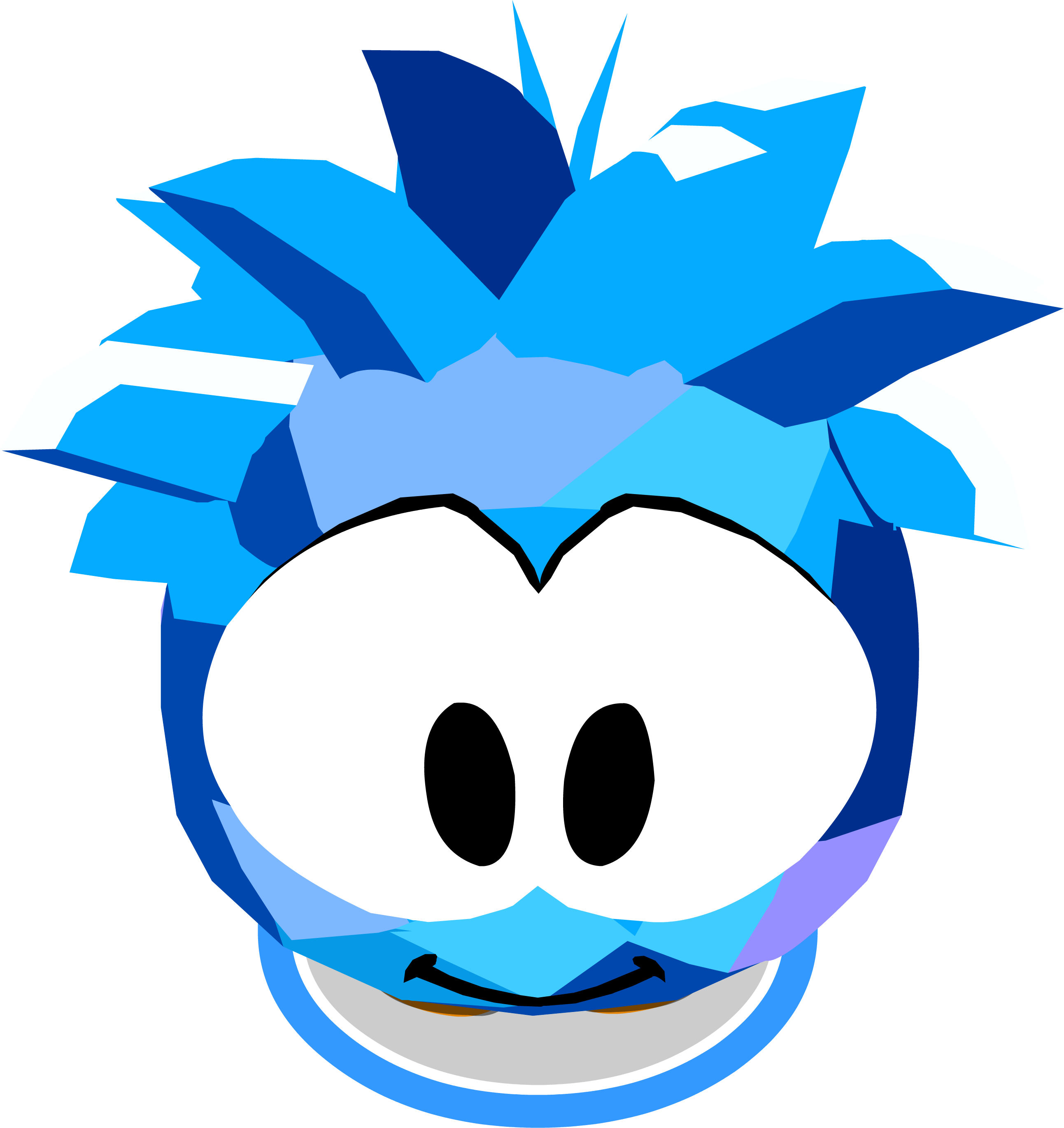 Archivo:Blue Crystal Puffle Costume In-Game.png