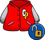 Red Letterman Jacket unlocked clothing icon ID 10296