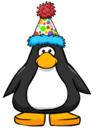 Polka Dot Puffle Hat from a Player Card