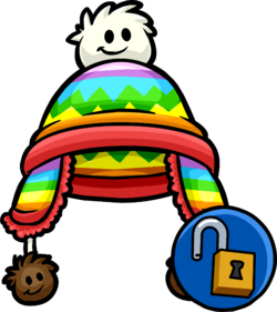 Rainbow Puffle Toque clothing icon ID 11349.png