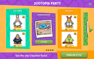 Zootopia Party interface page 1