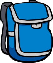 Blue Backpack icon 312