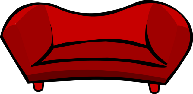 File:Red Plush Couch icon.png
