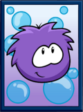 Purple Puffle Poster